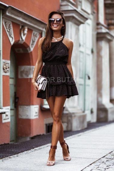KOMPLET VENICE BLACK ( bluzka i spódnica)