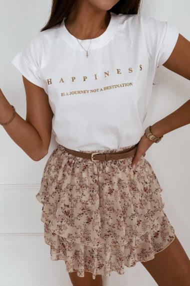 T-SHIRT HAPPINESS WHITE
